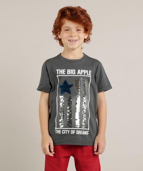 Camiseta-Infantil--Big-Apple--com-Paete-Dupla-Face-Manga-Curta-Gola-Careca-Chumbo-9233917-Chumbo_1