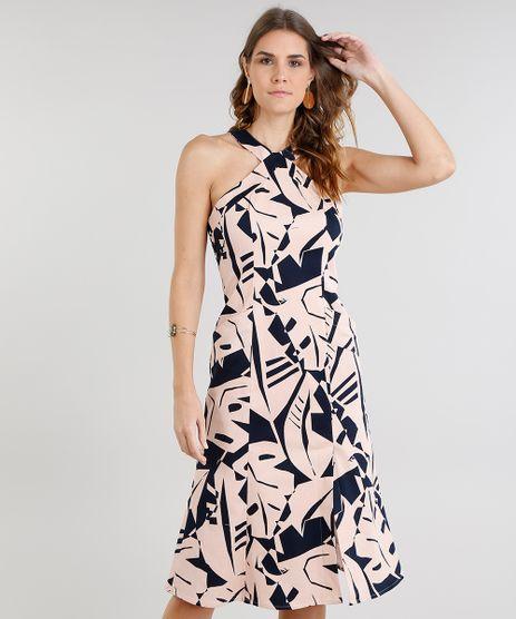 Vestido-Feminino-Midi-Estampado-Geometrico-Halter-Neck-com-Bolsos-e-Fenda-Rose-9186488-Rose_1