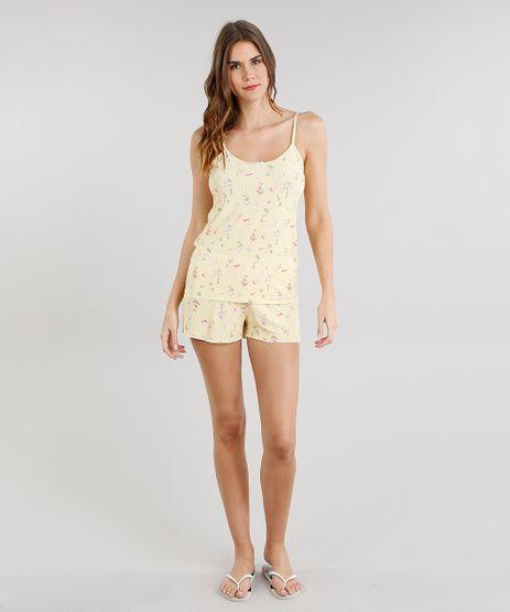 Short-Doll-Feminino-Estampado-Floral-Alca-Fina-Amarelo-Claro-9218980-Amarelo_Claro_1