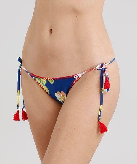 Biquini-Calcinha-Tanga-Estampado-Floral-com-Croche-e-Tassel-Azul-Royal-9221470-Azul_Royal_1