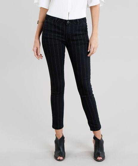 Calca-Jeans-Feminina-Skinny-Risca-de-Giz-Preta-9269747-Preto_1