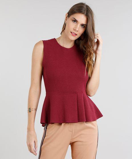 Regata-Feminina-Peplum-Texturizada-Vinho-9111765-Vinho_1