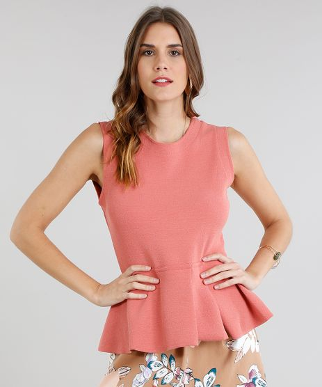 Regata-Feminina-Peplum-Texturizada-Coral-9111765-Coral_1