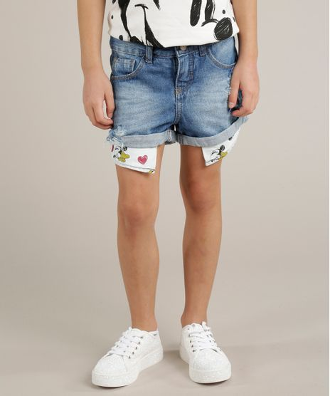 Short-Jeans-Infantil-Minnie-Destroyed-Azul-Medio-9246794-Azul_Medio_1