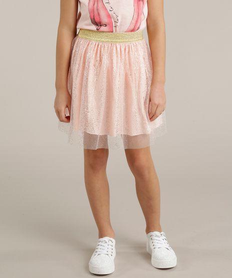 Saia-Infantil-de-Tule-com-Estampa-Metalizada-Rosa-Claro-9247488-Rosa_Claro_1