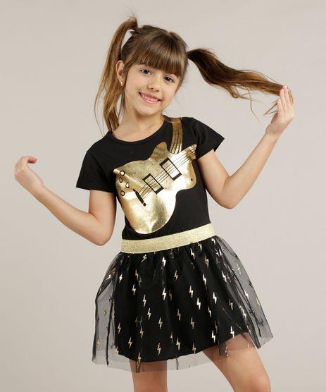 Vestido-Infantil-Rock-com-Tule-Metalizado--Preto-9247501-Preto_1