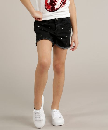 Short-Jeans-Infantil--com-Tachas-Barra-Desfiada-Preto-9247354-Preto_1