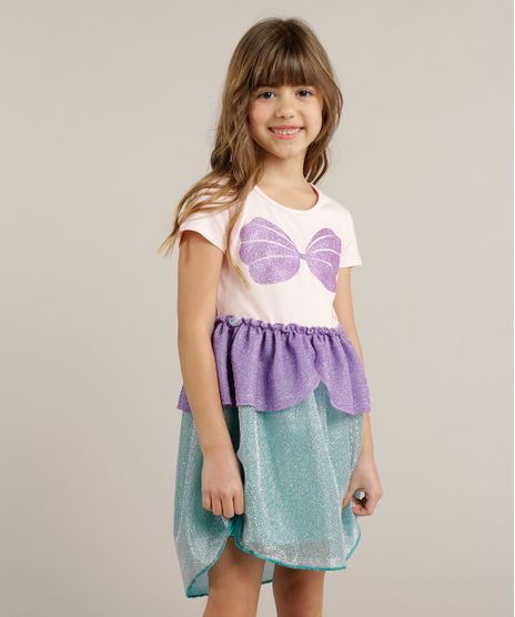 Vestido-Infantil-Ariel-Pequena-Sereia-com-Glitter-e-Lurex-Rosa-Claro-9245414-Rosa_Claro_1