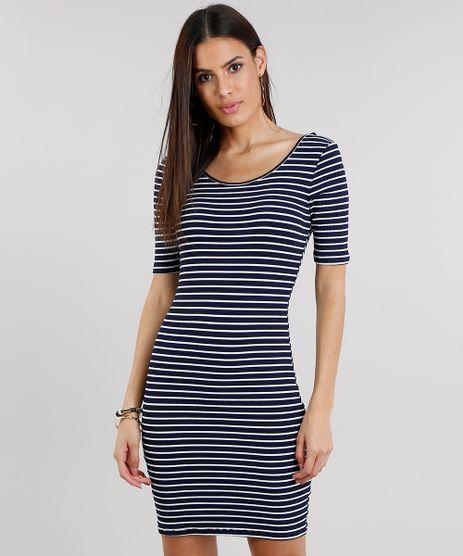 Vestido-Feminino-Listrado-Curto-Canelado-Azul-Marinho-9297318-Azul_Marinho_1