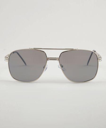 a5af0b0cc1de3 Óculos de Sol Aviador Masculino Oneself Prateado - ceacollections