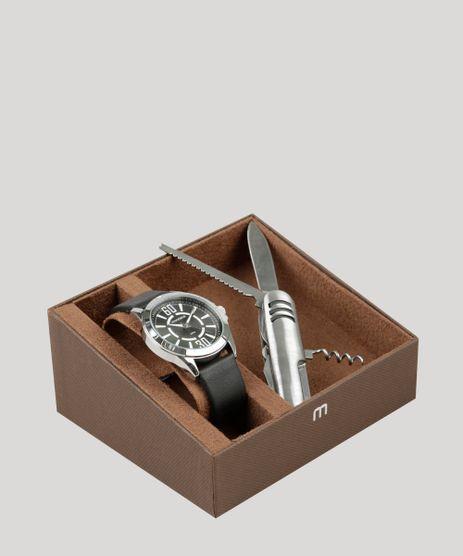 Kit-de-Relogio-Analogico-Mondaine-Masculino---Canivete---76669G0MVNH1KB-Preto-9326102-Preto_1