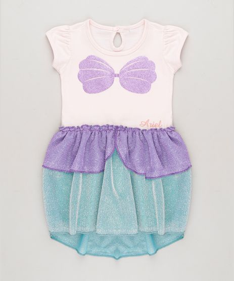 Vestido-Infantil-Pequena-Sereia-Ariel-com-Glitter-e-Lurex-Manga-Curta-Decote-Redondo-Rosa-Claro-9268907-Rosa_Claro_1