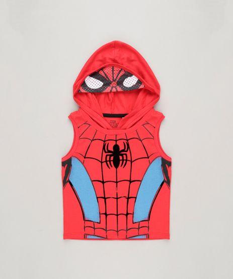 Regata-Infantil-Homem-Aranha-com-Capuz-em-Algodao---Sustentavel-Vermelha-9233842-Vermelho_1
