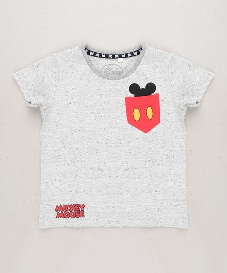 Camiseta-Infantil-Mickey-com-Bolso-Manga-Curta-Gola-Careca-Cinza-Mescla-Claro-9281784-Cinza_Mescla_Claro_1