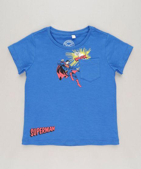 Camiseta-Infantil-Super-Homem-com-Bolso-Manga-Curta-Gola-Careca-Azul-Royal-9233959-Azul_Royal_1