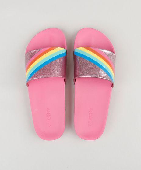 Chinelo-Slide-Feminino-com-Glitter-e-Arco-Iris-Rosa-9210368-Rosa_1