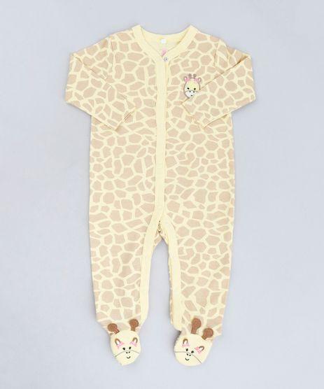 Macacao-Infantil-Girafa-Estampado-Animal-Print-Manga-Longa-em-Algodao---Sustentavel-Amarelo-9109992-Amarelo_1