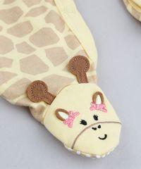 fee5e57e3e Macacão Infantil Girafa Estampado Animal Print Manga Longa Amarelo ...