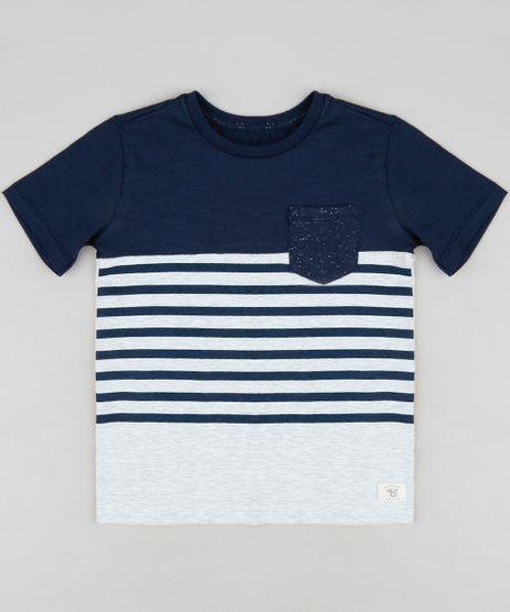 Camiseta-Infantil-com-Listras-e-Bolso-Manga-Curta-Gola-Careca-Azul-Marinho-9233735-Azul_Marinho_1