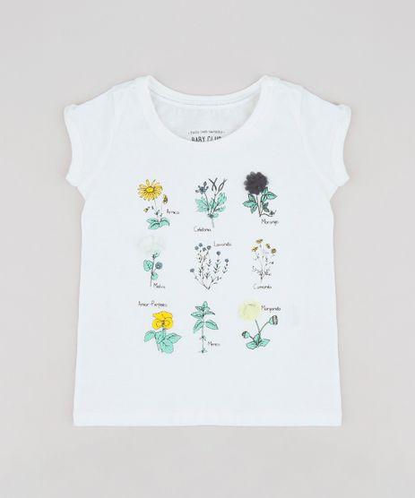 Blusa-Infantil-com-Estampa-Interativa-de-Flores-Manga-Curta-Decote-Redondo--Off-White-9244878-Off_White_1