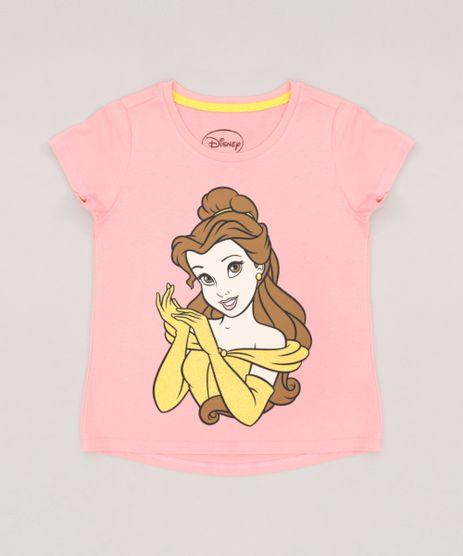 Blusa-Infantil-Princesas-Bela-Manga-Curta-Decote-Redondo--Rosa-9269448-Rosa_1