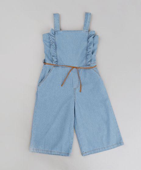 Macacao-Infantil-Jeans-Pantacourt-Estampado-Mini-Print-com-Babado-Azul-Claro-9257164-Azul_Claro_1