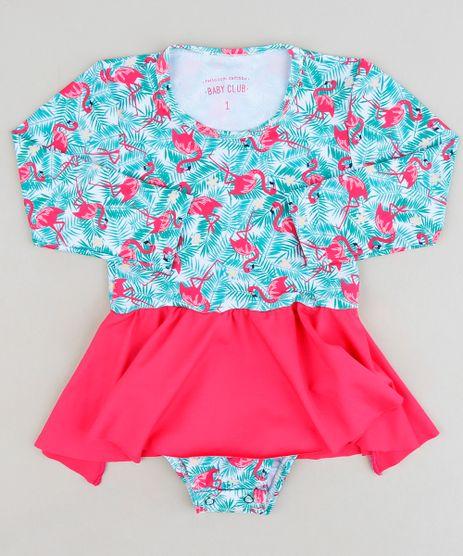 Maio-Body-Saia-Infantil-Estampado-de-Flamingos-com-Protecao-UV50--Manga-Longa-Decote-Redondo-Branco-9229158-Branco_1