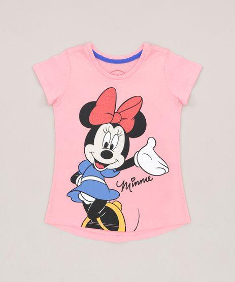 Blusa-Infantil-Minnie-com-Glitter-Manga-Curta-Decote-Redondo--Rosa-9230153-Rosa_1