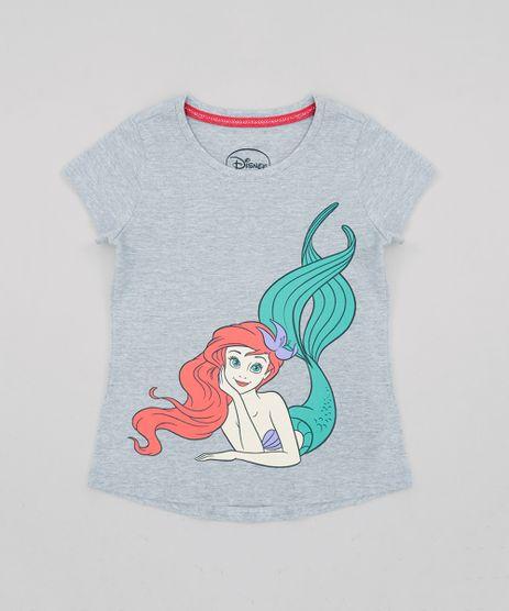 Blusa-Infantil-Princesas-Pequena-Sereia-Ariel-Manga-Curta-Decote-Redondo--Cinza-Mescla-9269449-Cinza_Mescla_1