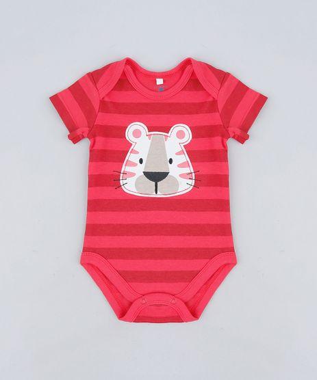 Body-infantil-Tigre-Listrado-em-Algodao---Sustentavel-Vermelho-9110031-Vermelho_1