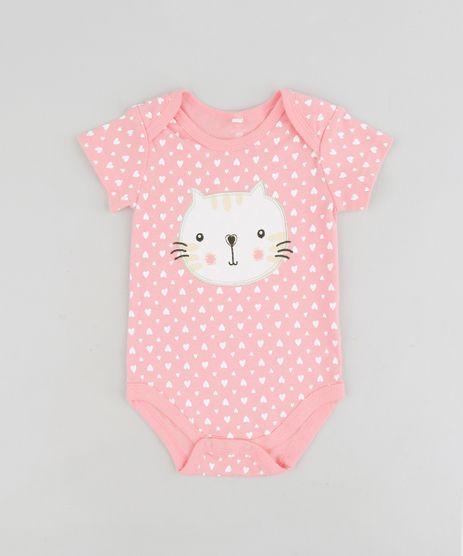 Body-infantil-Gatinha-Estampado-de-Coracoes-em-Algodao---Sustentavel-Rosa-9109989-Rosa_1