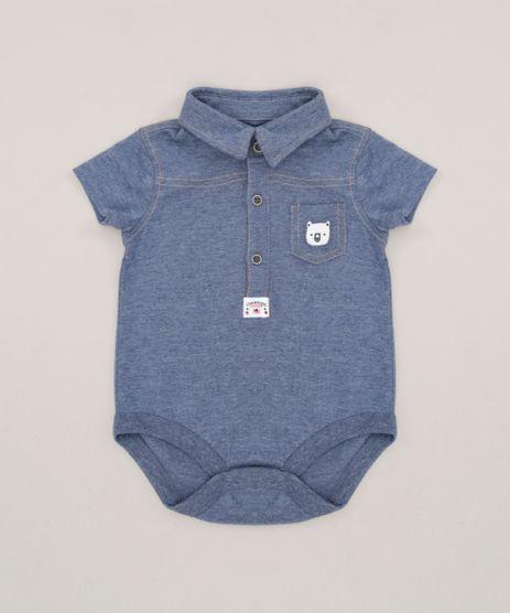 Body-Camisa-Infantil-Manga-Curta-em-Algodao---Sustentavel-Azul-9118881-Azul_1
