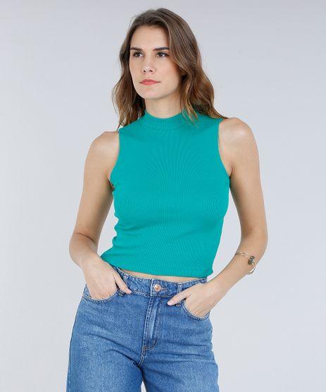 Regata-Feminina-Cropped-Gola-Alta-Basica-Canelada-Verde-8449098-Verde_1