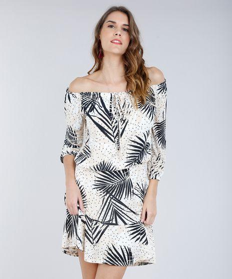 Vestido-Feminino-Curto-Ombro-a-Ombro-Estampado-de-Folhagens-Off-White-9293234-Off_White_1