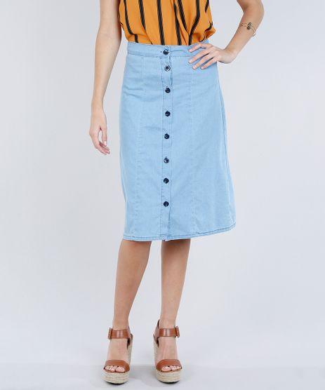 Saia-Jeans-Midi-Feminina-com-Botoes-Azul-Claro-9271811-Azul_Claro_1