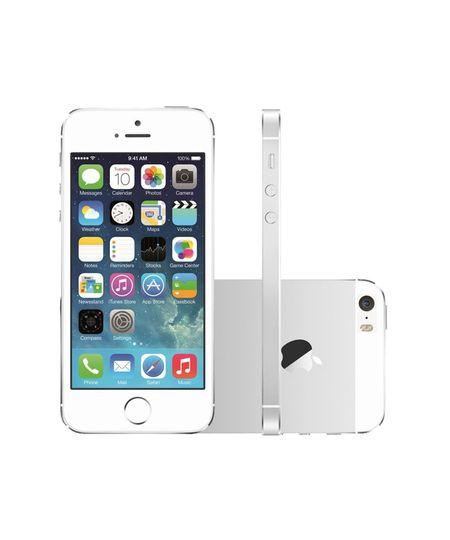 Iphone 5S 16Gb Ios 8 - 3G Wi - Fi 8Mp - Desbloqueado Tim Branco Com Prata - Único - COD. 2036181