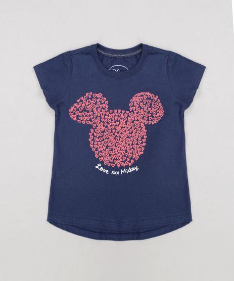 Blusa-Infantil-Mickey-com-Glitter-Manga-Curta-Decote-Redondo-Azul-Marinho-9269450-Azul_Marinho_1
