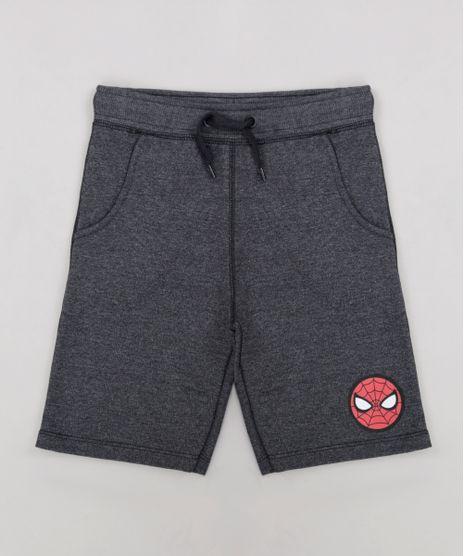 Bermuda-Infantil-Homem-Aranha-em-Moletom-Cinza-Mescla-Escuro-9241507-Cinza_Mescla_Escuro_1