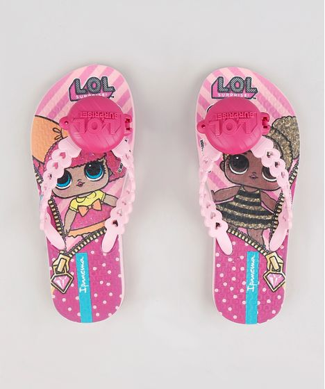 f95a4338c7 Chinelo Infantil Ipanema Lol Surprise Estampado Rosa Claro - cea