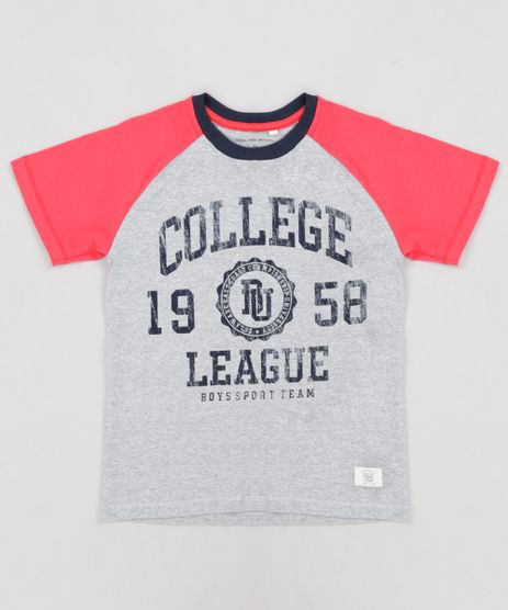 Camiseta-Infantil--College-League--Raglan-Manga-Curta-Gola-Careca-Cinza-Mescla-9232687-Cinza_Mescla_1