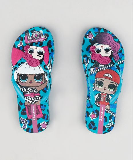 Chinelo-Infantil-Ipanema-Lol-Surprise-Estampado-Animal-Print-Verde-Agua-9293289-Verde_Agua_1