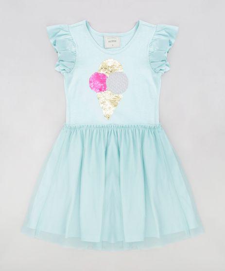 Vestido-Infantil-Sorvete-com-Paete-Dupla-Face-Manga-Curta-Decote-Redondo-Verde-Claro-9277947-Verde_Claro_1
