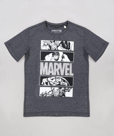 Camiseta-Infantil-Os-Vingadores-Marvel-Manga-Curta-Gola-Careca-Cinza-Mescla-Escuro-9288399-Cinza_Mescla_Escuro_1
