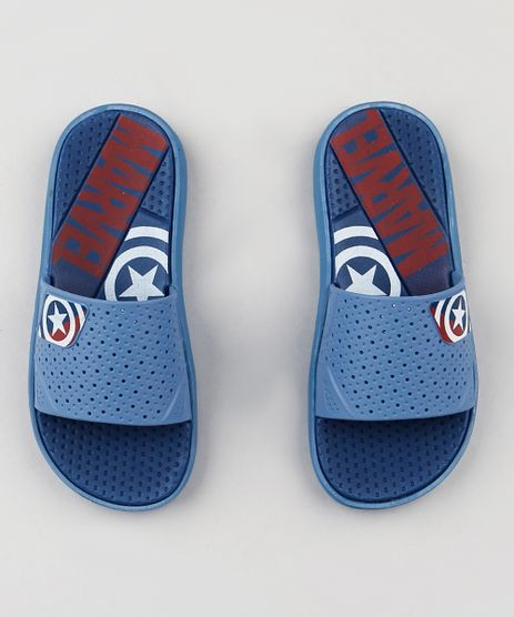 Chinelo-Slide-Infantil-Grendene-Capitao-America-Marvel-Azul-9292915-Azul_1