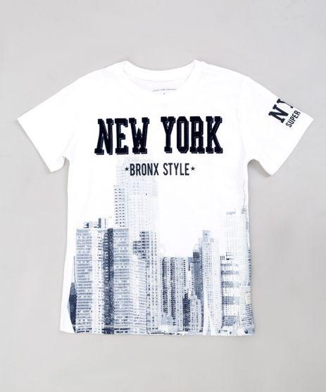Camiseta-Infantil--Bronx-Style--Manga-Curta-Gola-Careca-Off-White-9235239-Off_White_1