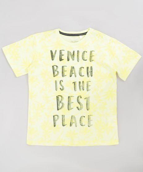 Camiseta-Infantil--Venice-Beach--Manga-Curta-Gola-Careca-Amarela-9233425-Amarelo_1