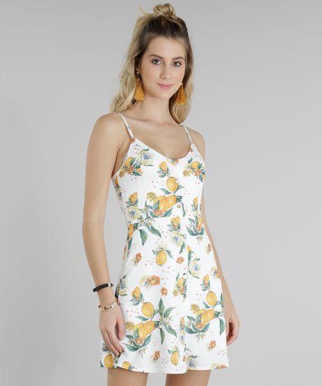 Vestido-Feminino-Estampado-de-Limoes-Curto-Canelado-Off-White-9269600-Off_White_1