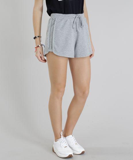 Short-Feminino-Running-Esportivo-Basico-em-Moletom-Cinza-Mescla-Claro-8793882-Cinza_Mescla_Claro_1