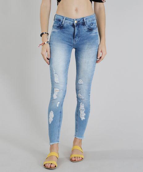 Calca-Jeans-Feminina-Sawary-Super-Skinny-Destroyed-Azul-Claro-9135601-Azul_Claro_1