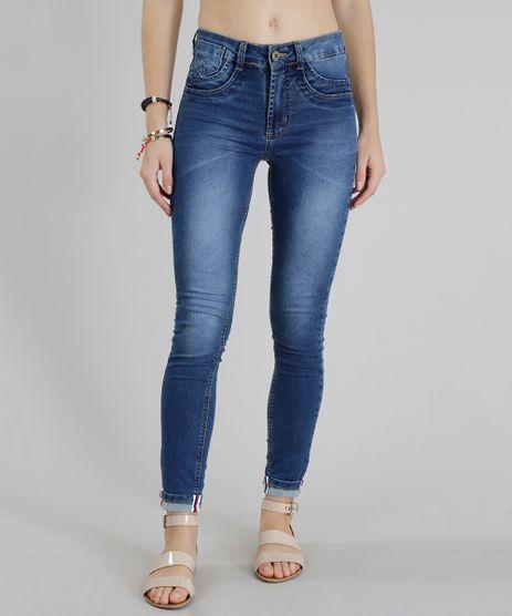 Calca-Jeans-Feminina-Sawary-Cigarrete-Barra-Dobrada-Faixa-Lateral-Azul-Medio-9322485-Azul_Medio_1